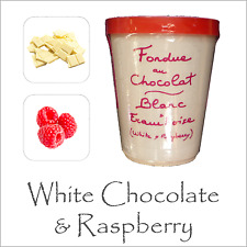 Luxury Chocolate Fondue by Aux Anysetiers du Roy - White Chocolate & Raspberry