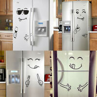 Smiley Face Refrigerator Sticker Vinyl Wall Stickers for Fridge Kitchen Bathroom