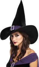 Morris Costumes Women's Velvet Elegant Witch Purple Hat. MR167151