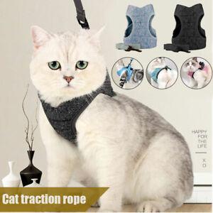 Escape Proof Cat Vest Harness and Leash Set Leads Small Medium Large Cat Garden