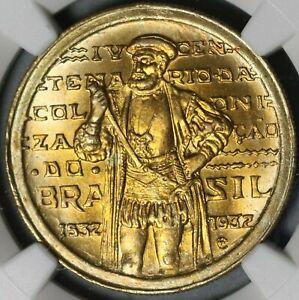 1932 NGC MS 66 Brazil 1000 Reis Colonization da Sousa 56K Coins (21051701C)