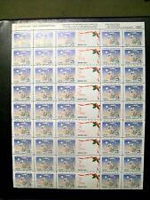 AMERICAN LUNG ASSOCIATION 1993 CHRISTMAS SEAL SHEET FRANKLIN MINT FULL SHEET
