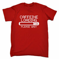 Caffeine Loading T-SHIRT Coffee Espresso Latte Games Retro Gift birthday funny