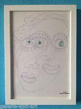 Raymond TRAMEAU Dessin 1960 Encadré Organique Nue Jean Arp Pablo Picasso Visage