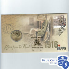 2016 $1 LETTERS FROM THE FRONT CENTENARY OF WWI PNC St George OVERPRINT