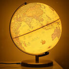 Globe ABS Metal Stand World Illuminated Antique Vintage Light up with USB