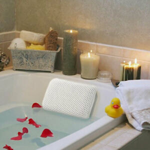 Luxury Waterproof Home Spa Bath Pillow Non-Slip Comfort Bath Cushion Suction