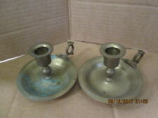Old Brass Metal Candle Stick Holders (Pair)