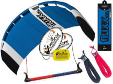 HQ Fluxx 2.2 Trainer Kite Kiteboarding Foil Power + Bar Plus Padded Wrist Straps
