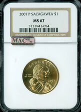 2007-P SACAGAWEA DOLLAR NGC MAC MS-67 PQ BUSINESS STRIKE SPOTLESS .