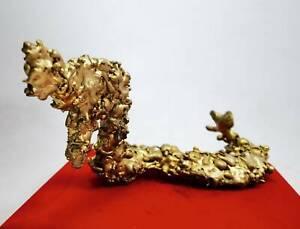King Naga Gold LEKLAI Magic Amulet Dragon Talismans Healing Lucky wealth Enerny