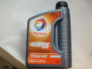 Total Quartz 5000 15W40 Diesel Mineral  Motor Oil 1L 449471-K 451024-K  F1