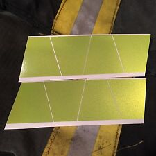 REFLECTIVE FIRE HELMET TETS 8 PACK TETRAHEDRONS FIRE HELMET STICKERS -LIME GREEN