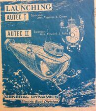 SUBMARINE AUTEC  1 + AUTEC 2 LAUNCHING 1968 NAVAL COVER