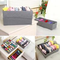 Closet Organizer Box For Bra Underwear Socks Ties Scarves Storage Drawer Divider