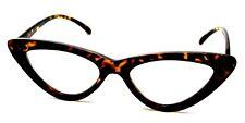 TORTOISESHELL BROWN CAT EYE Frames Clear Lens Glasses Slim Lolita Style #1732