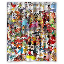 """Luxury Design Disney All Character Best Quality Shower Curtain 60"""" x 72"""""""