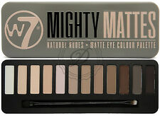 W7 Mighty Matte Eyeshadow Palette - 12 COLORI Browns Nudo Smokey PRIMER Misto