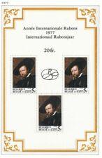 [151617] SUP||**/Mnh || - [BL52] Belgique 1977, bloc feuillet, 3 timbres et logo