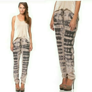 Gypsy 05 Pants,sz M, 100% Silk, Tie-Dye, Boho, Festival, Jogger, $178