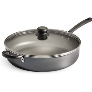 Giant Jumbo 5 Quart Non Stick Frying Cooker Pan Skillet Fry Saute Covered Lid