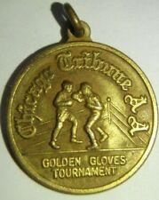 Vintage Golden Gloves Boxing Tournament  Chicago Tribune AA Official Medallion