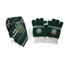 2pcs Harry Potter Slytherin Touch Gloves & Necktie Tie With Logo Xmas Gift