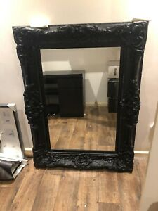 Black Ornate Antique Effect Very Large Frame shabby Chic Wall Mirror