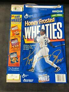 Ken Griffey Jr Honey Frosted Wheaties Box Flat Gold Signature