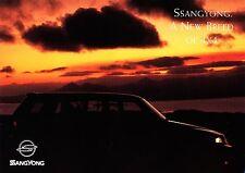 Ssangyong Musso KJ 4x4 prospectus 2000 Engl brochure voiture voitures autoprospekt Corée