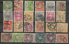 JAPAN..GOOD SELECTION OF 24 COMB and CIRCLE CANCELS FROM 1908 +..