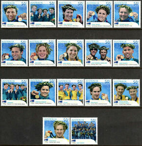 2004 Olympic Games Athens Gold Medallists Complete Set MNH
