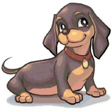 Cross Stitch Chart Dachshund Needlework Aida Picture Design Craft