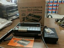 Crowncorder CTR- 9450S Solid State Compact Cassette Recorder  CTR-94505 Working