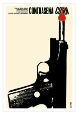 Cuban movie Poster.RUSSIAN Gun.Polish art film.Corn.Modern Home room decor art