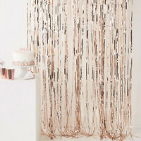 245mm Rose Gold Foil Fringe Curtain Party Decoration-Party Backdrop - Hen Night