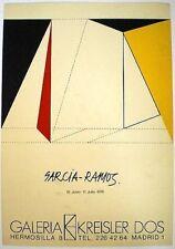 GARCÍA-RAMOS, Pedro. Cartel exposición Galeria Kreisler Dos 1976.