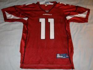 Larry Fitzgerald 11 Arizona Cardinals NFL Red Reebok Jersey Boy's Large used