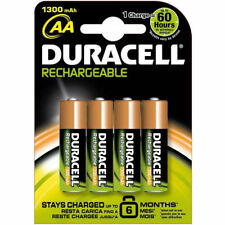 Duracell Supreme Rechargeable 1300 mAh AA Batteries - 4 Pieces