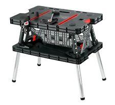 Folding Work Bench Table Sawhorse Clamps Multi-Purpose Garage Tools Portable
