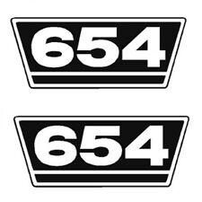 IHC Traktor Aufkleber 2xTypenaufkleber 654 Logo Emblem Sticker Label ca.21x9,5cm