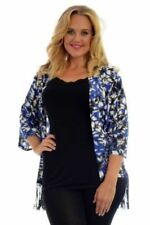 Plus Size Viscose Floral 3/4 Sleeve Tops & Blouses for Women