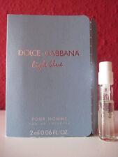 Dolce & GABBANA ~ Light Blue pour Homme ~ Eau de Toilette Profumo Campione Nuovo/Scatola Originale