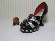 Decorative Shoe / Black and Silver w/ Rhinestones