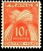 """FRANCE STAMP TIMBRE TAXE N° 76 """" GERBES 10F ROUGE-ORANGE """" NEUF xx LUXE"""