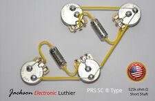 PRS SC SE Wiring Harness 525k CTS Potentiometers .022 uF Vitamin Q Caps