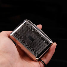 Stainless Steel Fine-cut tobacco Cigarette Case Metal Somking Pipe tobacco Box