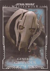 "Star Wars Masterwork - ""General Grievous"" Blue Parallel Base Card #19"