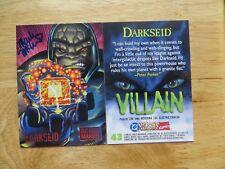 1995 DC VS MARVEL  DARKSEID CARD SIGNED MARK MCKENNA ART, WITH POA