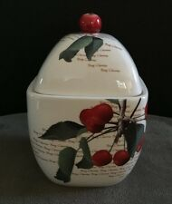 HARRY AND DAVID 2008 BING CHERRY JAM JELLY LIDDED JAR TEA CANISTER #155664